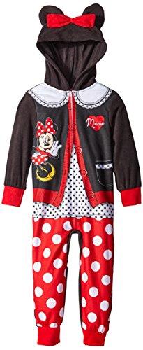 Disney Little Girls Cardigan Minnie Mouse Hooded Blanket Sleeper