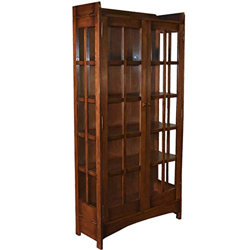 Crafters and Weavers Arts and Crafts Mission Solid Oak China Cabinet from Mission Furniture