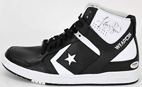 84d516ce2675 Celtics Larry Bird Autographed Signed Black Converse Game Model Size 9.5 Shoe  Psa  Ac43000