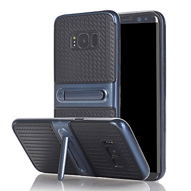 For Samsung Galaxy A3(2017) A5(2017) Case Cover The with Stand TPU with Plastic Frame for A7(2017) ( Color : Black , Compatible Models : Galaxy A7(2017) )