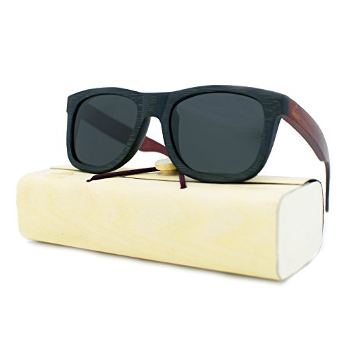 Handcrafted Wooden Sunglasses for Men & Women, Polarized Lens, Perfect ()