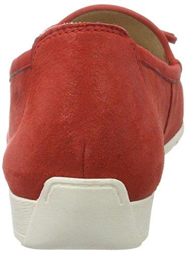 Caprice Red Comb Mujer 24610 Rojo Suede Mocasines para qq14pwfnAP