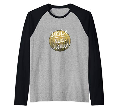 Idaho Famous Potatoes  Raglan Baseball Tee