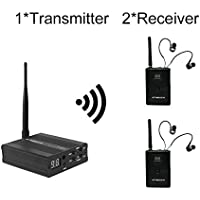 TP-WIRELESS 2.4GHz Professional In-ear Digital Wireless Stage audio Monitor System(1 Transmitter and 2 Receivers)