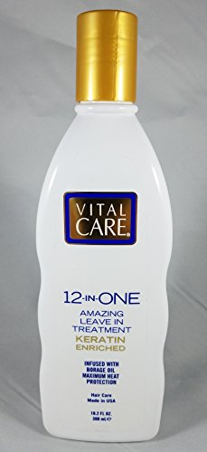 Vital Care 12-in-ONE Amazing Leave in Treatment, Keratin Enriched 10.2 Fl Oz