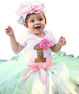 Baby Girls First Birthday Lace Tutu Outfit