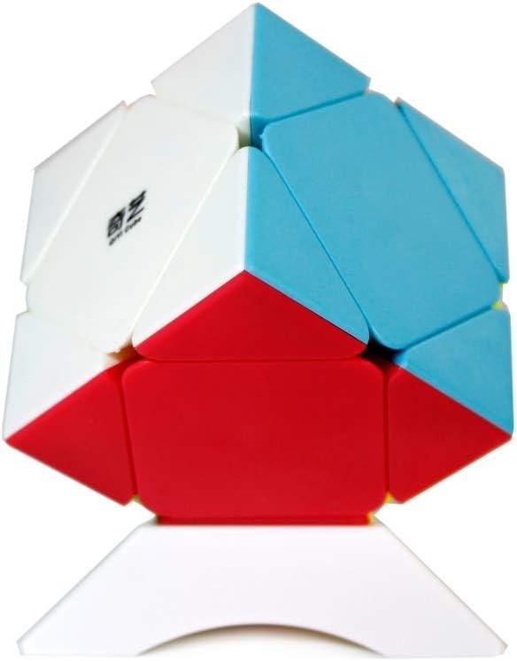 OJIN Cube Bundle Megaminx /& Skewb /& Lvy Cube /& Pyramid Bright Cube Stickerless Set with Gift Packing Sin Etiqueta