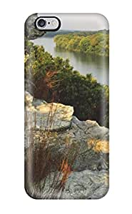 For Iphone Case, High Quality Rocks And Lake White Plants Vegetation Nature Other Samsung Galaxy S5 I9600/G9006/G9008 Cover Cases