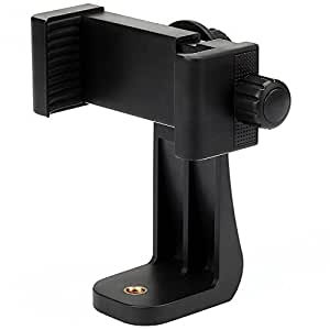 Vastar Universal Smartphone Tripod Adapter Cell Phone Holder Mount Adapter, Fits iPhone, Samsung, and all Phones, Rotates Vertical and Horizontal, Adjustable Clamp