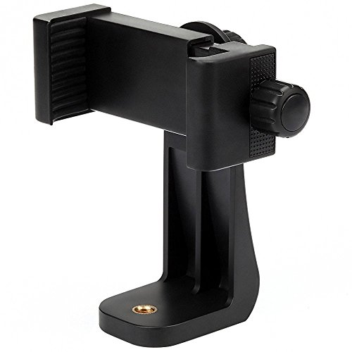 Vastar Universal Smartphone Tripod Adapter Cell Phone Holder Mount Adapter, Fits iPhone, Samsung, and all Phones, Rotates Vertical and Horizontal, Adjustable Clamp ()