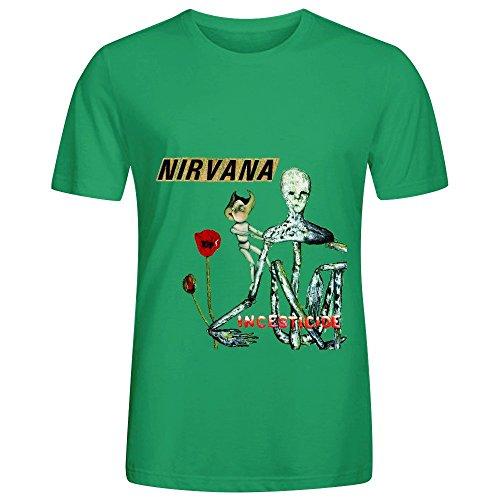 Nirvana Incesticide Tour 80s Mens Crew Neck Custom T Shirt - Fresno Fair Fashion