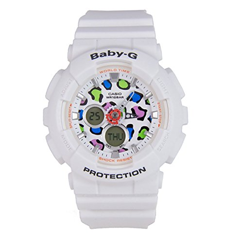 - Casio Baby-G Animal Print Graphic Dial Resin Quartz Ladies Watch BA120LP-7A1DR