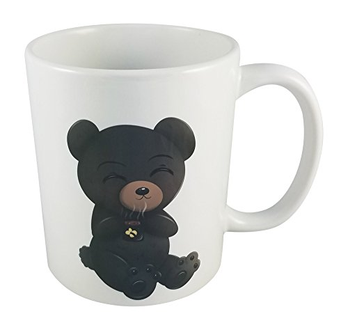 Exclusive Design By Seventy-One Trading Company-Cute &Amp; Kawaii Chibi Character Drinking Coffee Standard 11Oz Ceramic Mug - Sloth Novelty Coffee Mugs
