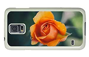 Hipster Samsung Galaxy S5 Case funny covers orange rose macro PC White for Samsung S5