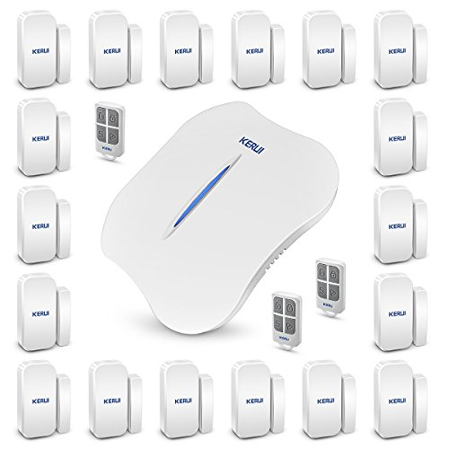 KERUI W1 Wireless Home/House Business Alarm System,WIFI PSTN DIY Kit with Auto Dial and IOS/Andriod APP Remote Control,433mhz Smart Burglar Alert + door/window sensor for Complete Security by KERUI