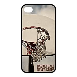 AZA pc SILICONE For LG G2 Case Cover , Basketball Never Stops Protective pc -Black/White