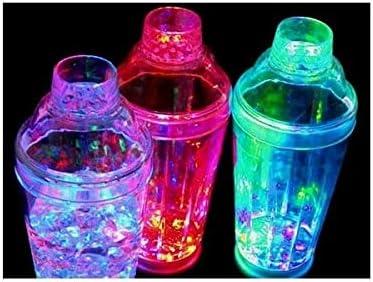 HYSOOC Shaker /Ã/ Cocktail-Lumineux-/Ã/©Tanche-/Ã/€ LEDs Multicolores changeantes-Chenillard