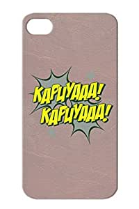 Anti-scratch Kapuyaaa Funny Kapuya Satire Yellow For Iphone 4/4s Protective Hard Case