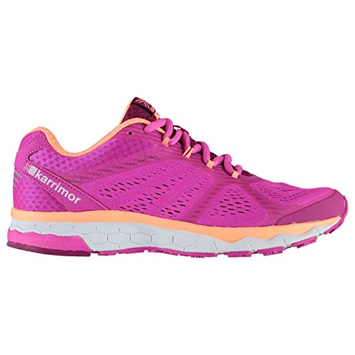 Mesh Karrimor Running Up Tongue Shoes Lace Road 5 Breathable Womens Pink Tempo Coral Padded UqFH6