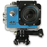 TechComm SPH9 Ultra 4K 30fps Action Sports 16MP Camera Sony SONY179 Sensor 30M Waterproof 170° Wide Angle Lens with Remote - Blue
