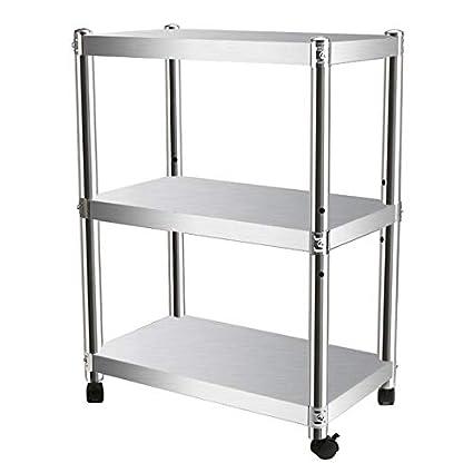 GL-kitchen supplies Estantería de 3 estantes con Ruedas ...