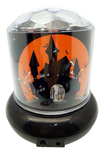 Creative Motion 14160-9 Operated LED Projector Light with Halloween Motifs (3 X AA Batteries Needed. Not Included)