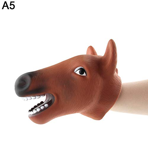 Maserfaliw Hand Puppet Realistic Cartoon Animal Head Hand Puppet Role Play Toy Halloween Party Decor - A5 ,A Fun, Popular Gift That Can Be Used at Home. ()