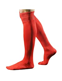 Vertily Men's Breathable Football Long Over Knee High Athletic Compression Socks