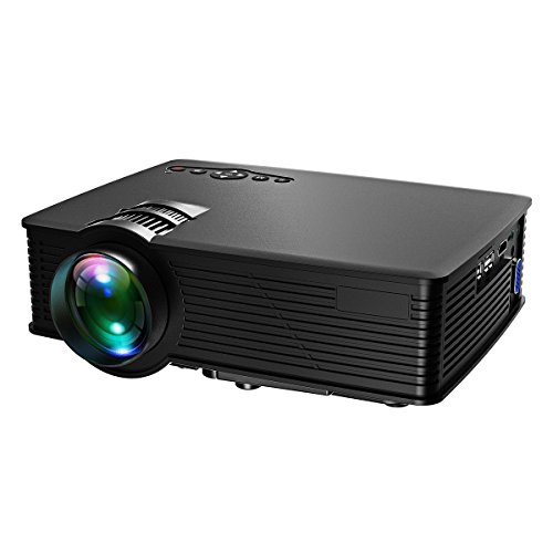 Victsing lcd video projector mini portable hd 1080p led for Portable video projector