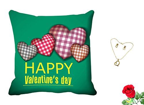 meSleep Happy Valentine's Digital Printed Cushion (With Filler) free