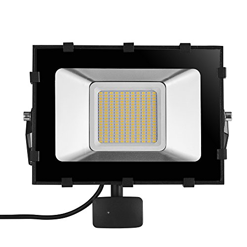 Cheap Viugreum 100W LED Motion Sensor Floodlight, Waterproof IP65, 12000LM, Warm White(2800-3200K), Outdoor Landscape Spotlights, Super Bright PIR Security Lights, for Garden, Yard, Warehouse, Square