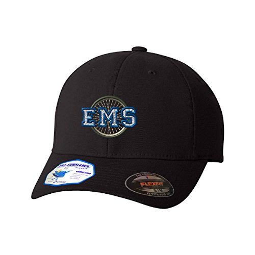 Ems Bike Patrol (Ems Bike Patrol Flexfit Pro-Formance Embroidered Cap Hat Black Small/Medium)