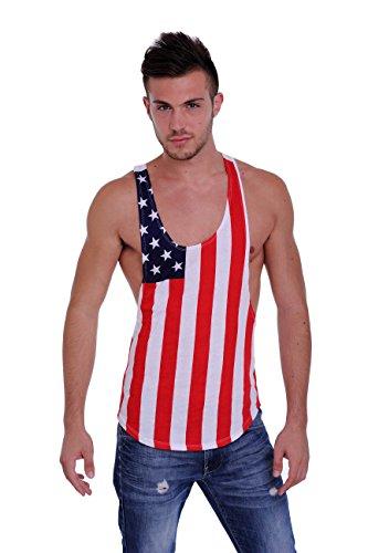 Mens-USA-Flag-Tank-Top-Racer-Back-American-Muscle-Shirt