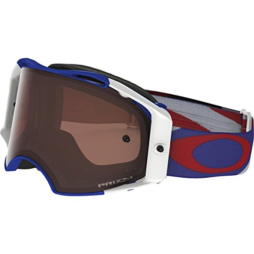 Oakley Airbrake MX Heritage Racer Adult Off-Road Motorcycle Goggles Eyewear - RWB/Prizm MX Bronze/One Size Fits All by Oakley