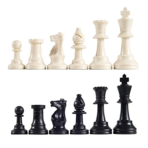 Chess Pieces - Ehonestbuy Resin Chess Set – Pieces Only – No Board - 2 1/2