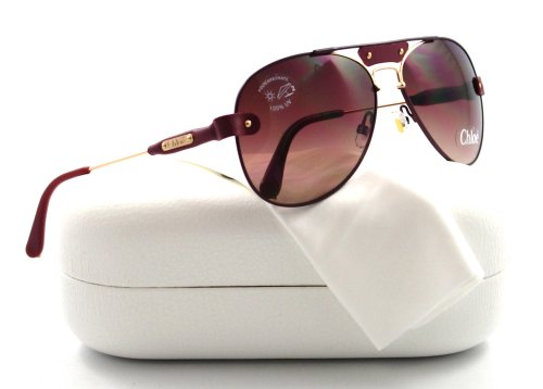 7353256a214c Tamaris Aviator Sunglasses  Burgundy-Gold Red-Brown Gradient  Amazon.co.uk   Clothing