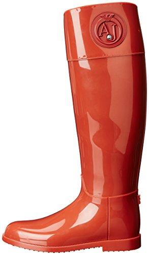 Armani Boots Femme Wellington Emporio Jeans Rouge dHU7dB