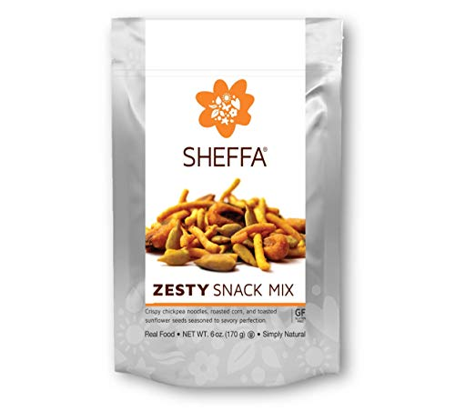 (Sheffa Snack Trail Mix, Zesty, 6 Ounce (3 Pack) HEALTHY & TASTY | NUT FREE | Vegan | Kosher | Gluten Free | Non GMO | Low Sodium | for busy people - OFFICE/WORK)