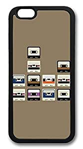 ACESR Cassette Tapes Lightweight iPhone 6 Case TPU Back Cover Case for Apple iPhone 6 4.7inch Black