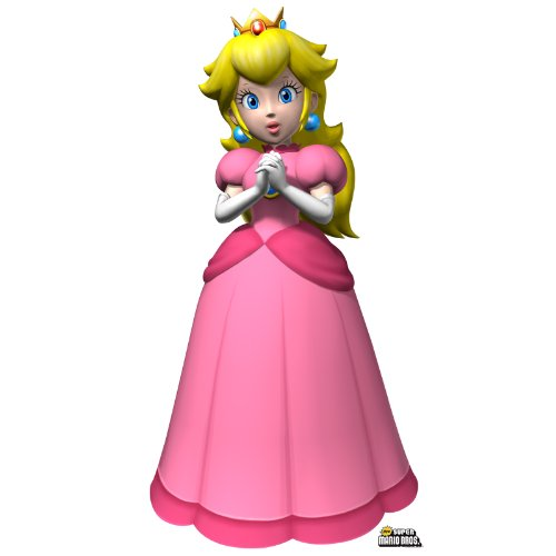 BirthdayExpress Super Mario Bros Room Decor - Princess Peach Life Size Cardboard Standup by BirthdayExpress