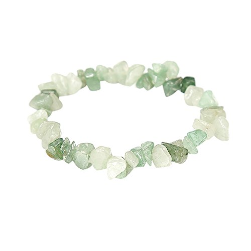 Sinfu Women Irregular Natural Crystal Crushed Stone Handmade 5-8mm Bracelet Gemstone Chip Beads Stretchy Bracelet Healing Reiki (C) ()