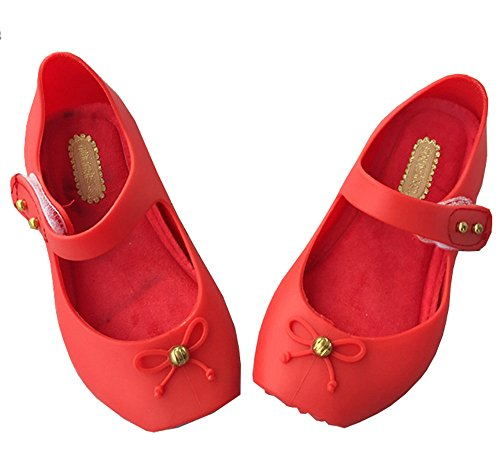 iFANS Girls Cute Bow Toddler Kids Mary Jane Flats Ballet Shoes