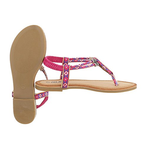 Ital-Design - Zapatos con tacón Mujer Pink Multi FC-C205