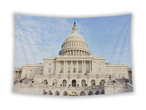 Gear New Wall Tapestry For Bedroom Hanging Art Decor College Dorm Bohemian, Capitol Building Capital Hill Washington Dc USA, - Capital Hill Mall