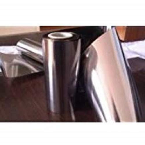Titanium Foil 99.5% (''Grade 1'') 0.010mm (.0005'') x 110mm (4.3'') x 152mm (6'') -(2 Pack) by SPS