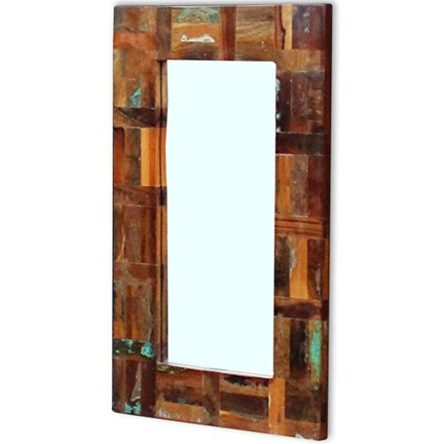 vidaXL Solid Reclaimed Wood Frame Mirror Home Furniture Living Room Bathroom from vidaXL