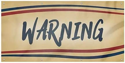 Warning 8x4 CGSignLab Nostalgia Stripes Wind-Resistant Outdoor Mesh Vinyl Banner