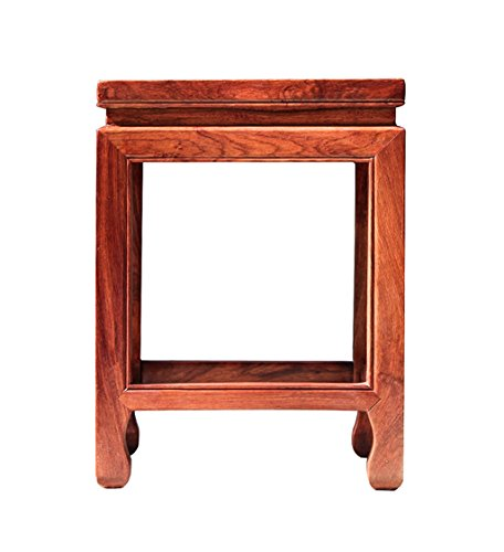 le Dining Table Stool Solid Wood Adult Shoes Stool Rosewood Square Stool Home Restaurant Square Stool Bath Stool 200KG (323245CM) ()