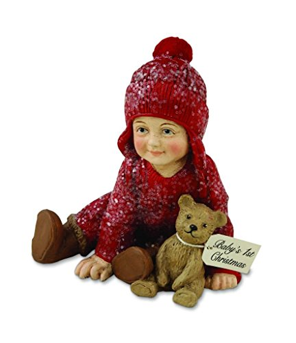 Bethany Lowe Children at Christmas Boy Teddy Bear Baby's 1st Christmas Ornament