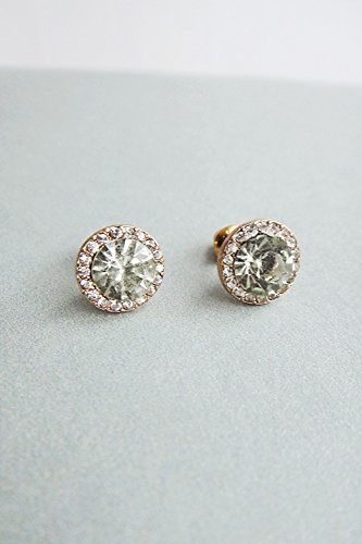 KENHOI Beauty women gift light green circular earrings earings dangler eardrop earrings